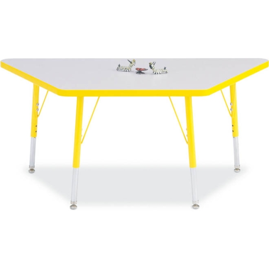 Trapezoid activity table rainbow accents activity tables for Trapazoid table
