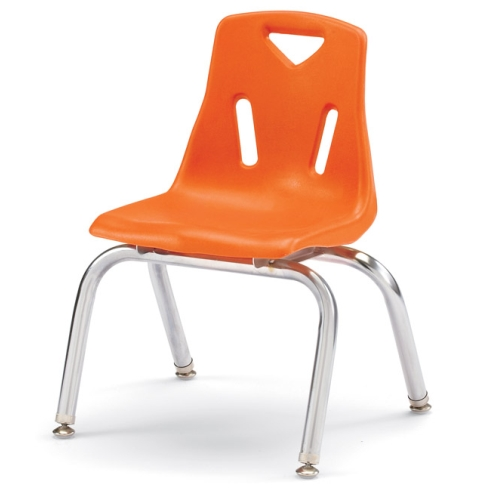 Orange Plastic Chair lowest price! jonti-craft berries plastic chairs w/chrome plated legs