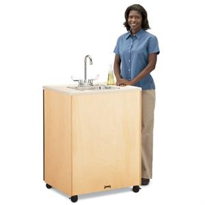 Jonti-Craft Birch Clean Hands Helper Mobile Sink