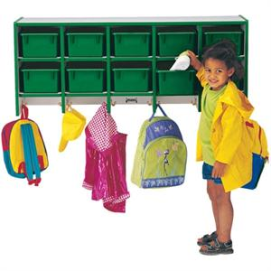 Jonti-Craft Rainbow Accents Coat Lockers - Large Wall Mount (w/o Trays)