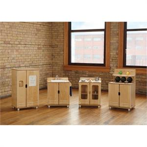 Modern Wooden Play Kitchen truemodern play kitchen, 1711jc, ultra modern design