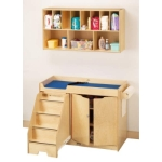 Jonti-Craft Changing Table w/Right Side Stairs and Diaper Organizer - 5143JC