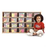 Young Time 20 Tray Cubbie Storage w/ Clear Trays 7041YT441