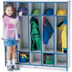 Jonti-Craft Rainbow Accents Coat Lockers - 5 Sections