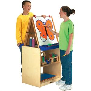02891JC 2 Station Easel School Age Jonti-Craft-Furniture.com