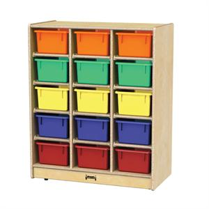 0648JC Jonti-Craft 15 Cubbie-Tray Mobile Unit