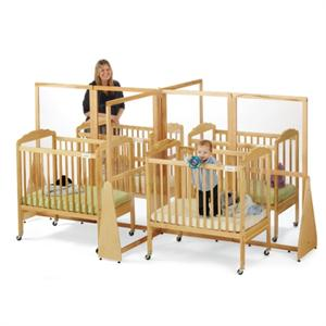 1653 JONTI-CRAFT SEE-THRU CRIB DIVIDER - QUAD