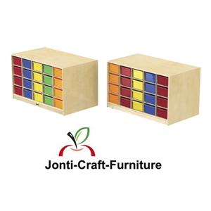 4425JC Jonti-Craft Double-Sided Island – Single + 40 Cubbie-Tray