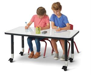 "Jonti-Craft Rectangle Dry Erase Table - 36"" x 24"""