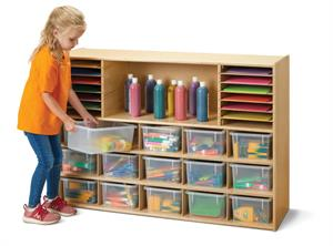 Young Time Sectional Cubbie Tray Storage - 7032YT