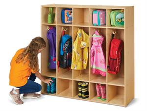 Young Time 5 Section Coat Locker - 7106YT