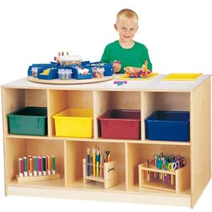Jonti-Craft Mobile Storage Island - Twin Jonti-Craft-Furniture.com