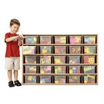 Young Time 25 Tray Cubbie Storage w/ Clear Trays 7141YT441