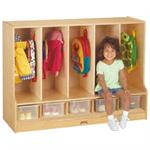 Toddler Coat Locker w/Step, Clear Trays Jonti-Craft 66850JC