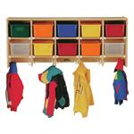 Coat Locker - Large Wall Mount w/Colored Trays - Jonti-Craft 0771JC