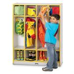Jonti-Craft Rainbow Accents Coat Locker - 4 Sections