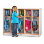 Jonti-Craft Rainbow Accents Toddler Coat Locker - 5 Sections